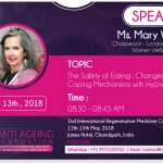 Cornelius Counselling and Hypnotherapy - Anti Ageing Foundation - Mary White Public Speaker May 2018